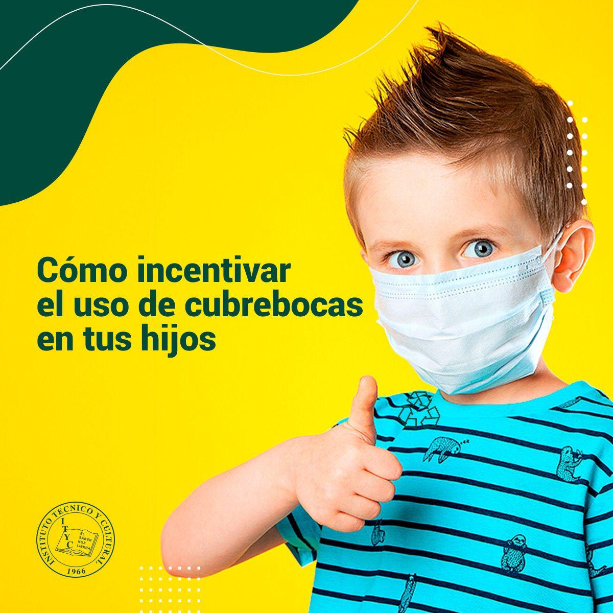 Cómo incentivar el uso de cubrebocas en tus hijos